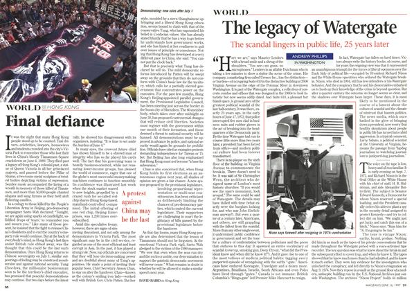 Article Preview: The legacy of Watergate, June 1997 | Maclean's