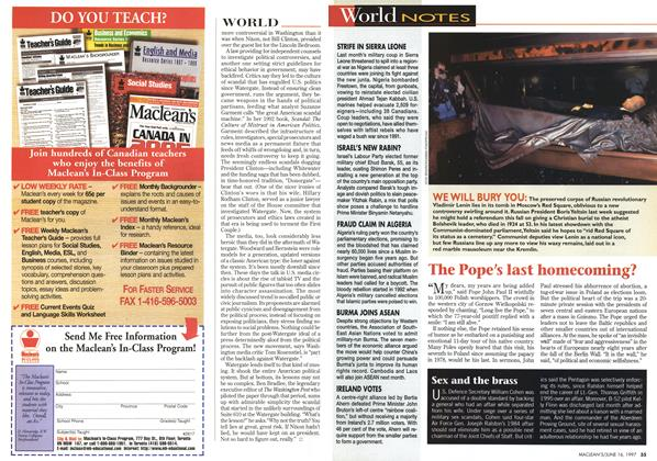 Article Preview: World NOTES, June 1997 | Maclean's