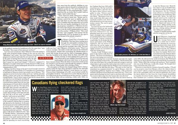 Article Preview: Canadians flying checkered flags, June 1997 | Maclean's