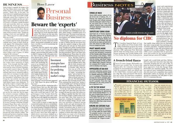 Article Preview: Beware the 'experts', June 1997 | Maclean's