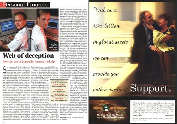 Article Preview: Web of deception, June 1997 | Maclean's