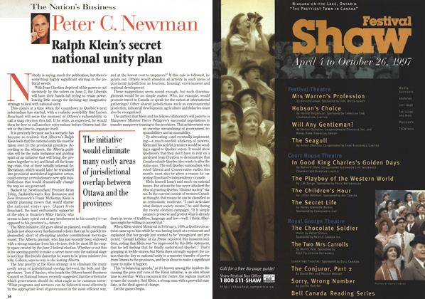 Article Preview: Ralph Klein's secret national unity plan, June 1997 | Maclean's