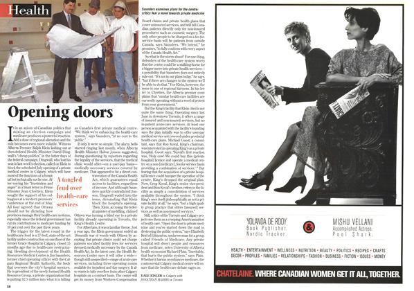 Article Preview: Opening doors, June 1997 | Maclean's