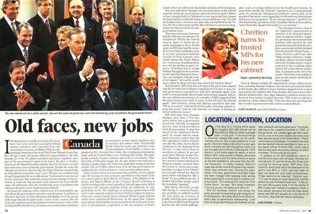 Article Preview: Old faces, new jobs, June 1997 | Maclean's
