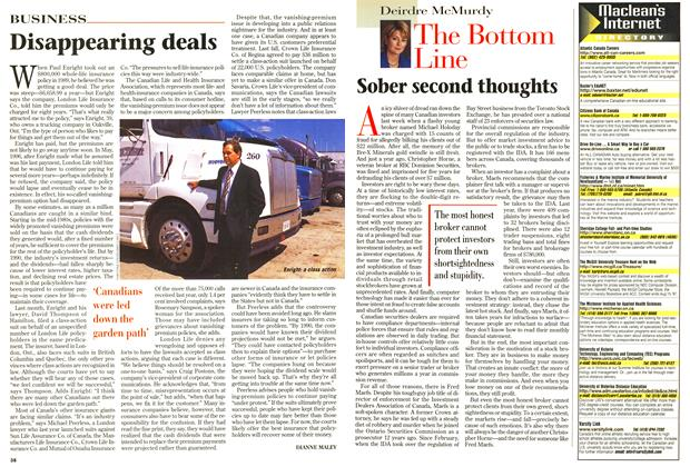Article Preview: Disappearing deals, June 1997 | Maclean's