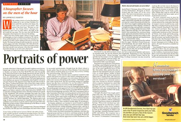 Article Preview: Portraits of power, June 1997   Maclean's