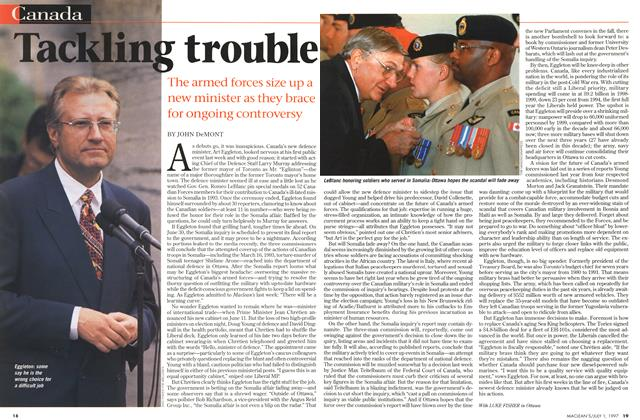 Article Preview: Tackling trouble, July 1997 | Maclean's
