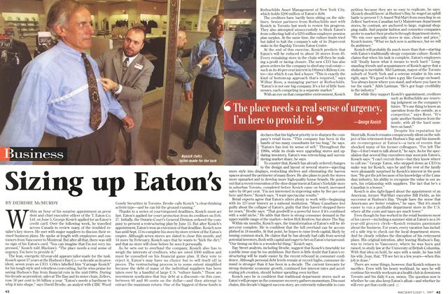 Article Preview: Sizing up Eaton's, July 1997 | Maclean's