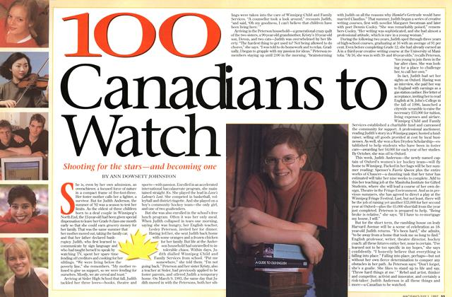 Article Preview: 100 Canadians to Watch, July 1997 | Maclean's