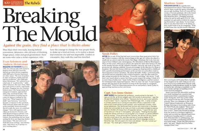 Article Preview: Breaking The Mould, July 1997 | Maclean's