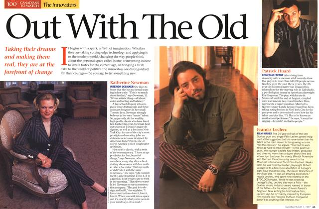 Article Preview: Out With The Old, July 1997 | Maclean's