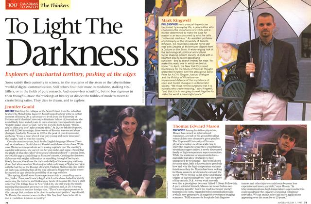 Article Preview: To Light The Darkness, July 1997 | Maclean's