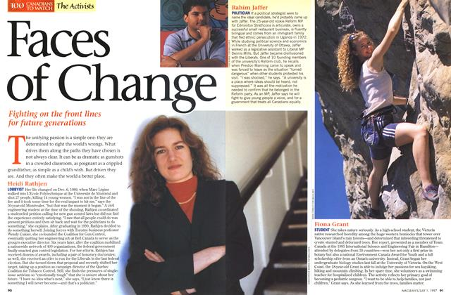 Article Preview: Faces Of Change, July 1997 | Maclean's