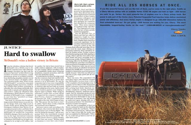 Article Preview: Hard to swallow, July 1997 | Maclean's