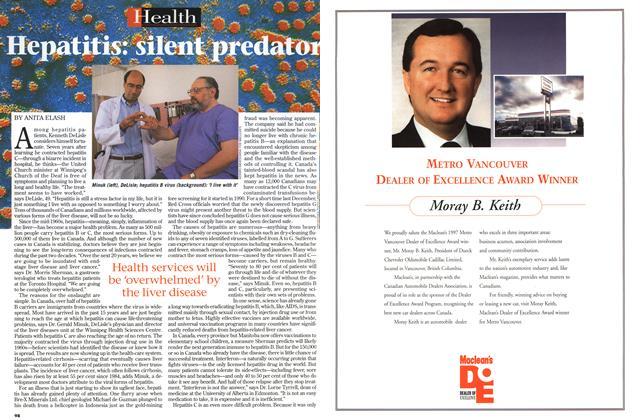 Article Preview: Hepatitis: silent predator, July 1997   Maclean's