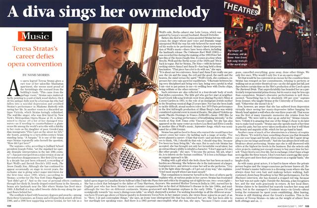 Article Preview: A diva sings her own melody, July 1997 | Maclean's