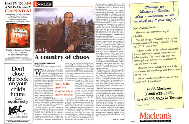 Article Preview: A country of chaos, July 1997 | Maclean's