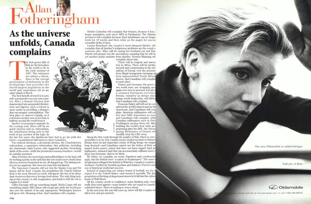 Article Preview: As the universe unfolds, Canada complains, July 1997 | Maclean's