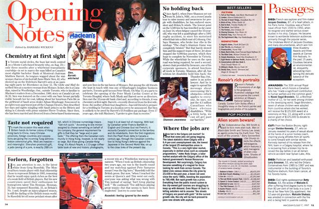 Article Preview: Opening Notes, July 1997 | Maclean's