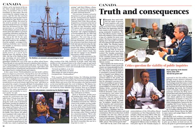 Article Preview: Truth and consequences, July 1997 | Maclean's