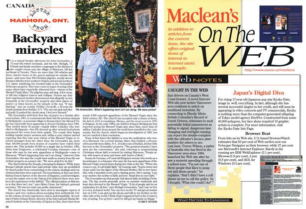 Article Preview: Backyard miracles, July 1997 | Maclean's