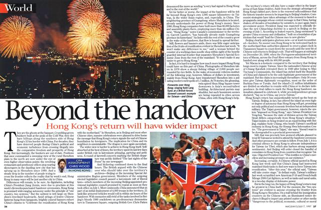 Article Preview: Beyond the ha ndover, July 1997 | Maclean's