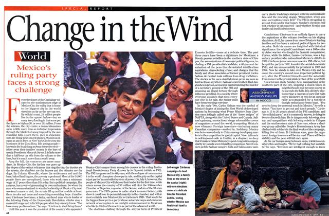 Article Preview: Change in the wind, July 1997 | Maclean's