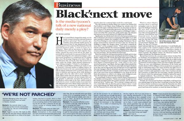 Article Preview: Black's next move, July 1997 | Maclean's
