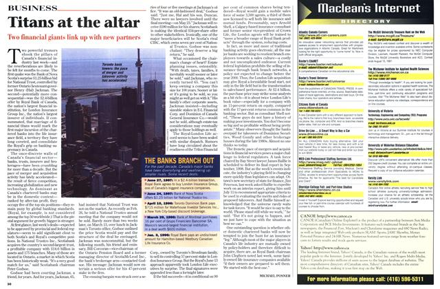 Article Preview: Titans at the altar, July 1997 | Maclean's