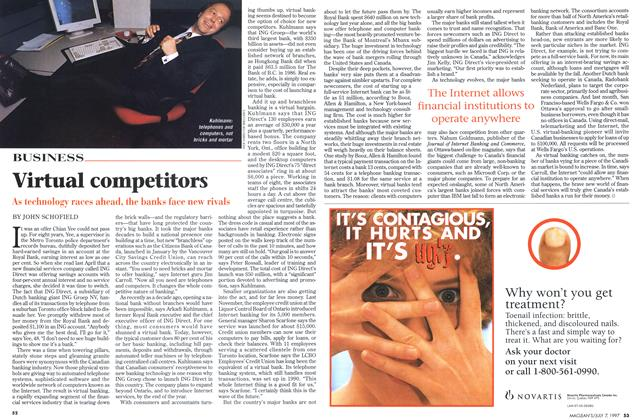 Article Preview: Virtual competitors, July 1997 | Maclean's