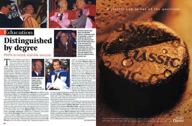 Article Preview: Distinguished by degree, July 1997   Maclean's