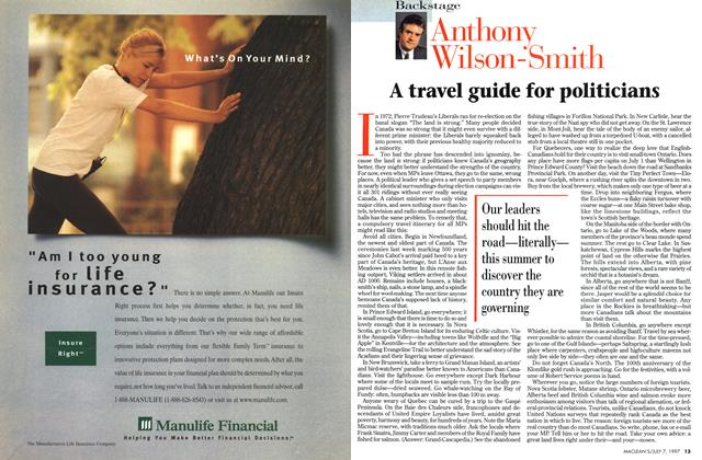 Article Preview: A travel guide for politicians, July 1997 | Maclean's