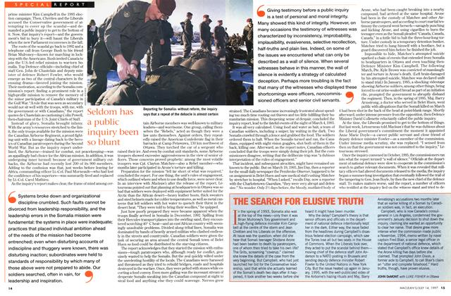 Article Preview: THE SEARCH FOR ELUSIVE TRUTH, July 1997 | Maclean's