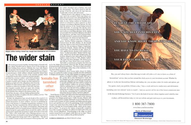 Article Preview: The wider stain, July 1997 | Maclean's