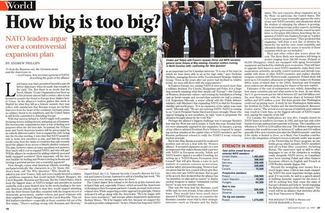 Article Preview: How big is too big?, July 1997 | Maclean's