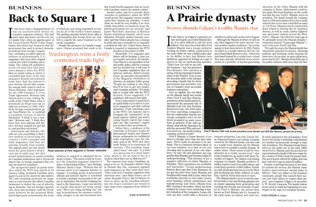 Article Preview: A Prairie dynasty, July 1997 | Maclean's