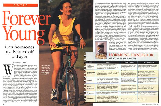 Article Preview: Foever Young, July 1997 | Maclean's