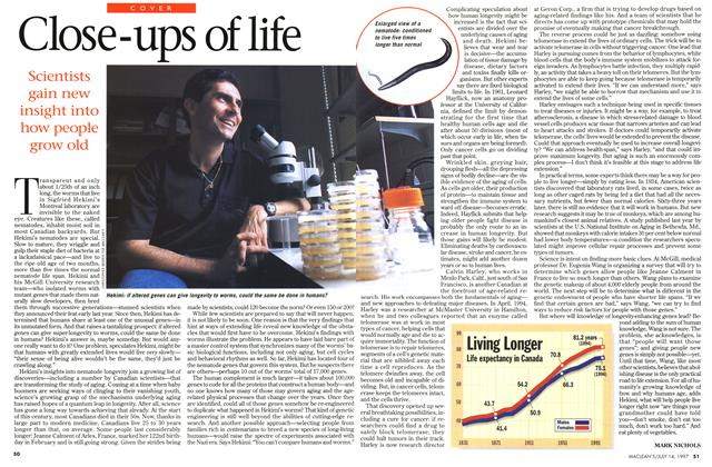 Article Preview: Close-ups of life, July 1997 | Maclean's