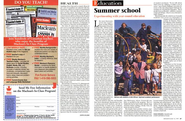 Article Preview: Summer school, July 1997 | Maclean's