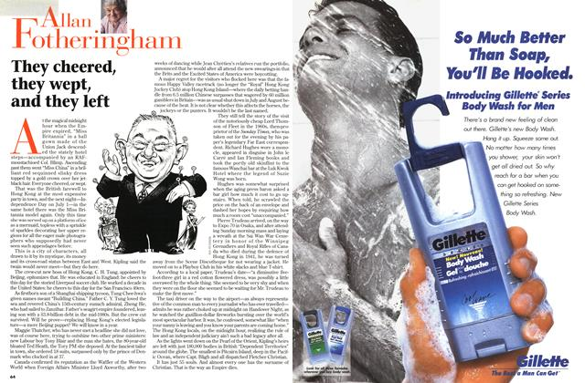 Article Preview: They cheered, they wept, and they left, July 1997 | Maclean's