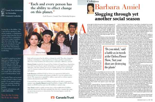 Article Preview: Slogging through yet another social season, July 1997 | Maclean's