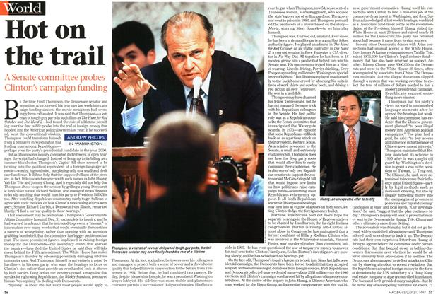 Article Preview: Hot on the trail, July 1997 | Maclean's