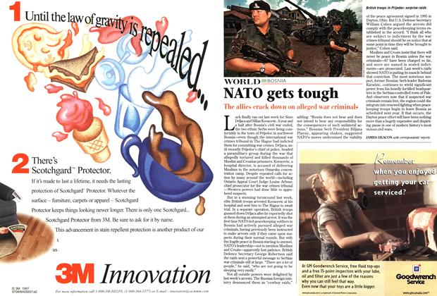 Article Preview: NATO gets tough, July 1997 | Maclean's