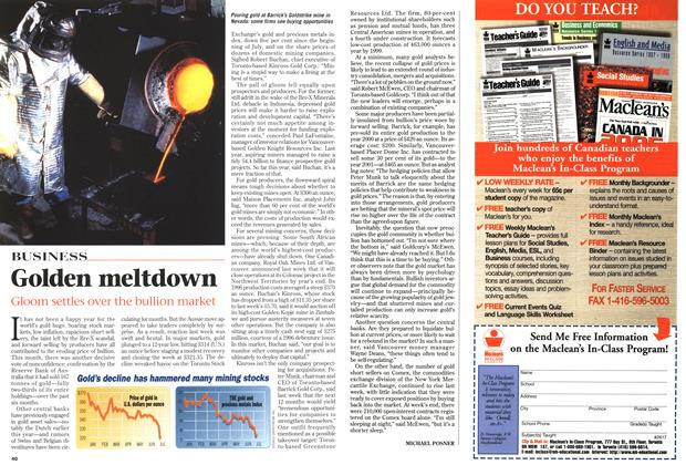 Article Preview: Golden meltdown, July 1997 | Maclean's
