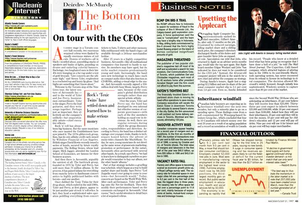 Article Preview: The Bottom Line, July 1997 | Maclean's