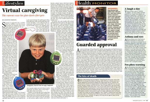 Article Preview: Virtual caregiving, July 1997 | Maclean's