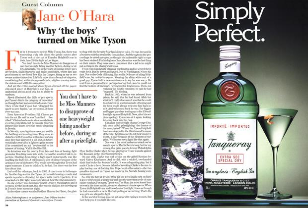 Article Preview: Why 'the boys' turned on Mike Tyson, July 1997 | Maclean's
