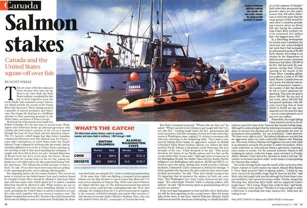 Article Preview: Salmon stakes, July 1997 | Maclean's