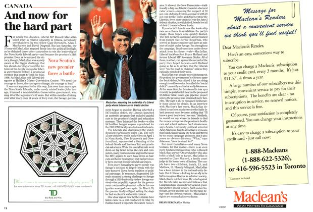 Article Preview: And now for the hard part, July 1997 | Maclean's
