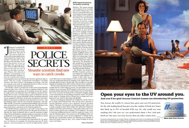 Article Preview: POLICE SECRETS, July 1997 | Maclean's